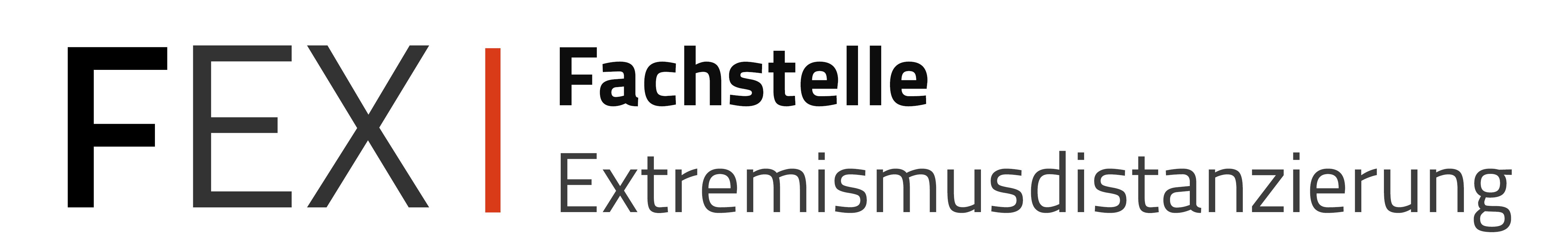 Logo der Fachstelle Extremismusdistanzierung, in Trägerschaft der Landesarbeitsgemeinschaft Mobile Jugendarbeit / Streetwork Baden-Württemberg e. V. (LAG)